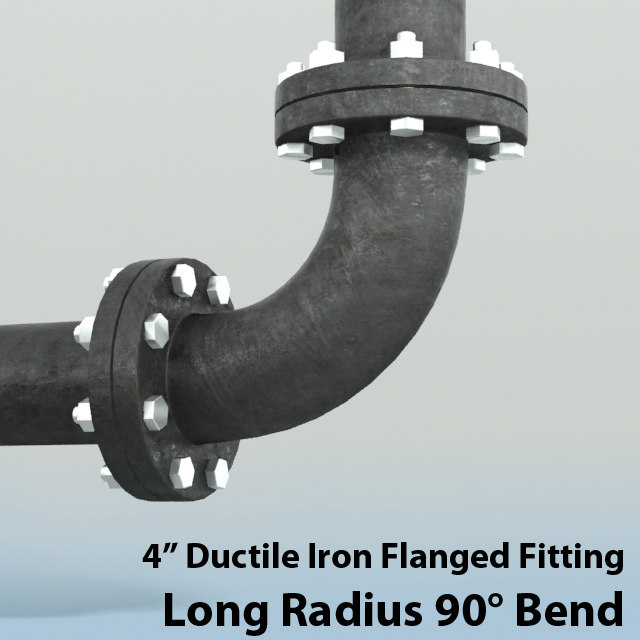3d 4in long radius bend