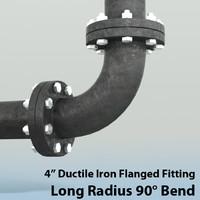 3d 4in long radius bend