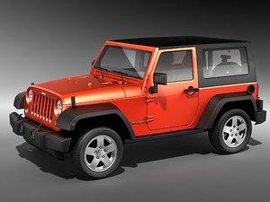 3d jeep wrangler midpoly model