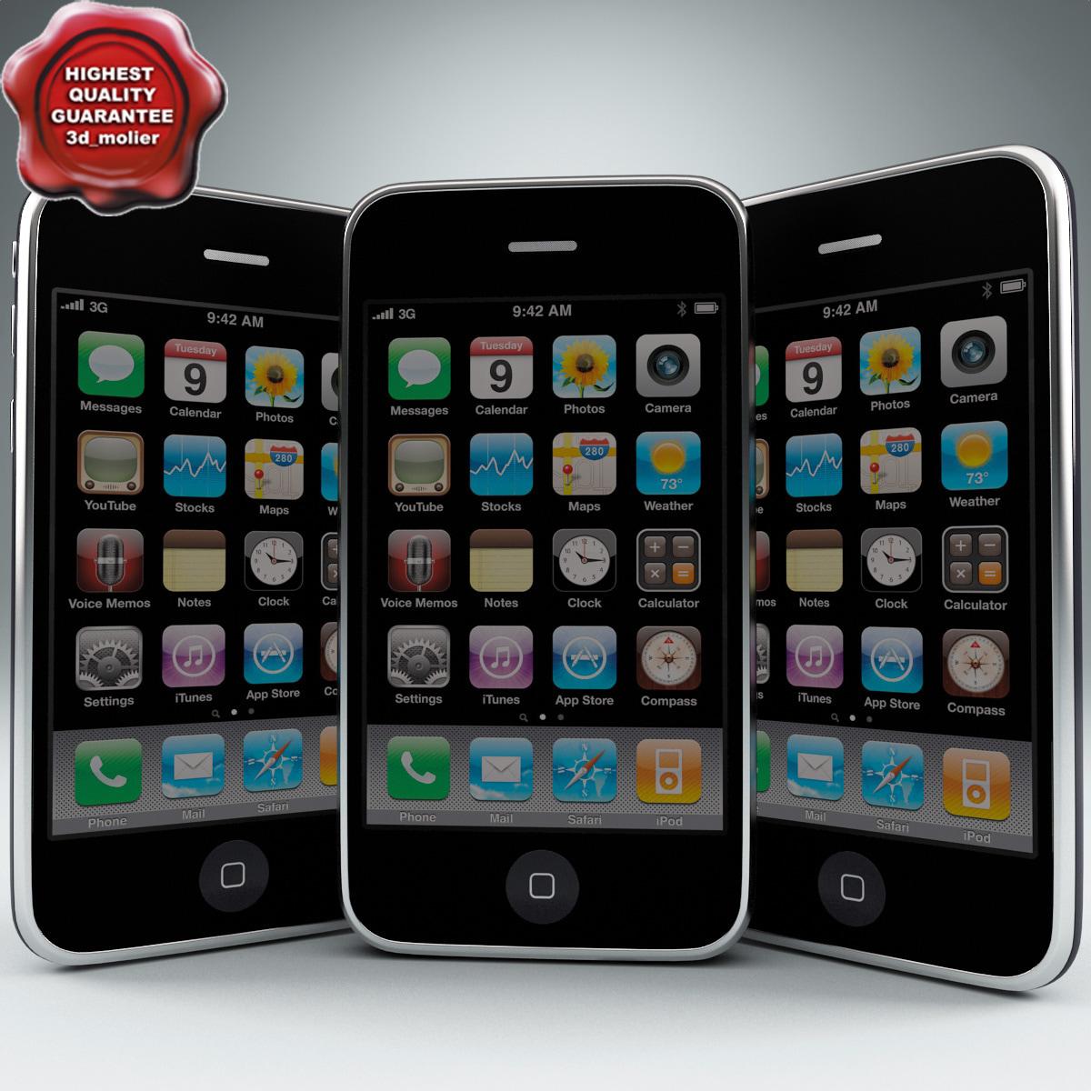 3d model apple iphone 3g 32gb