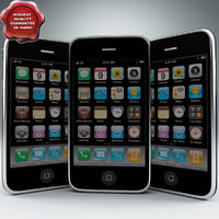 3d model apple iphone 3g 32gb