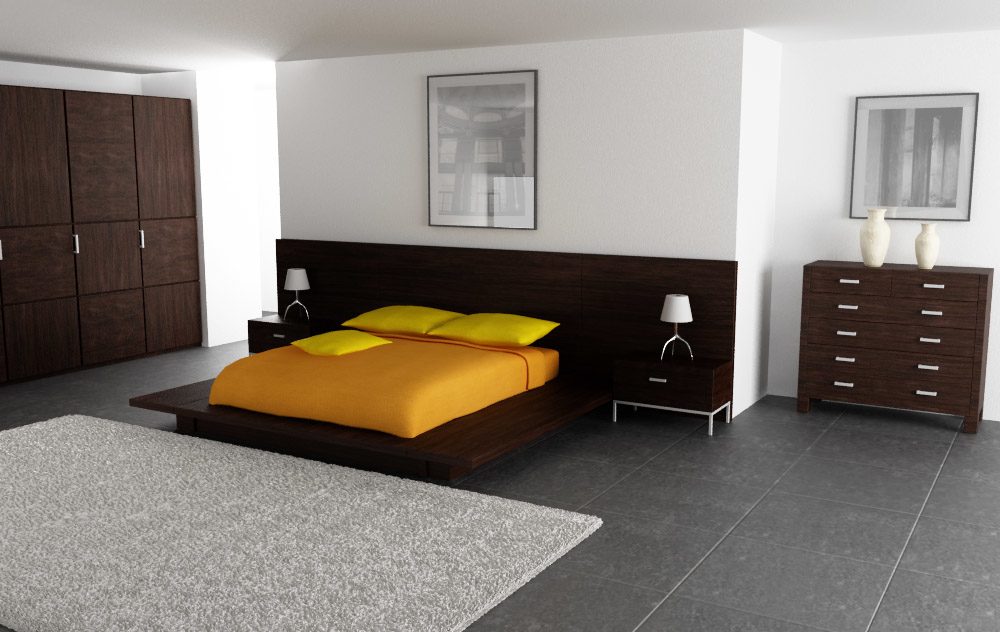 3d model bedroom interior 02b
