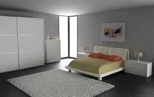 bedroom interior 02c 3d max