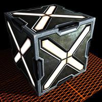 3d model sci fi box container