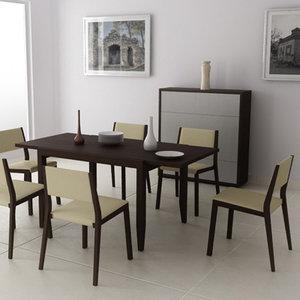 3d dining room interior 03d