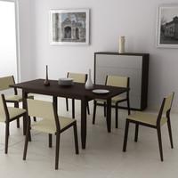 Dining room interior 03D