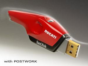 3d usb stick model