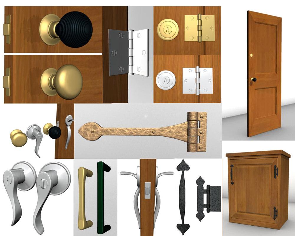 maya door knobs hardware