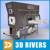 lab glove box glovebox 3d 3ds