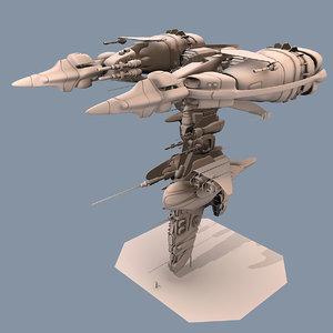 free gunship armel 3d model
