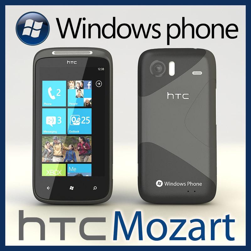 3d windows phone htc 7 model