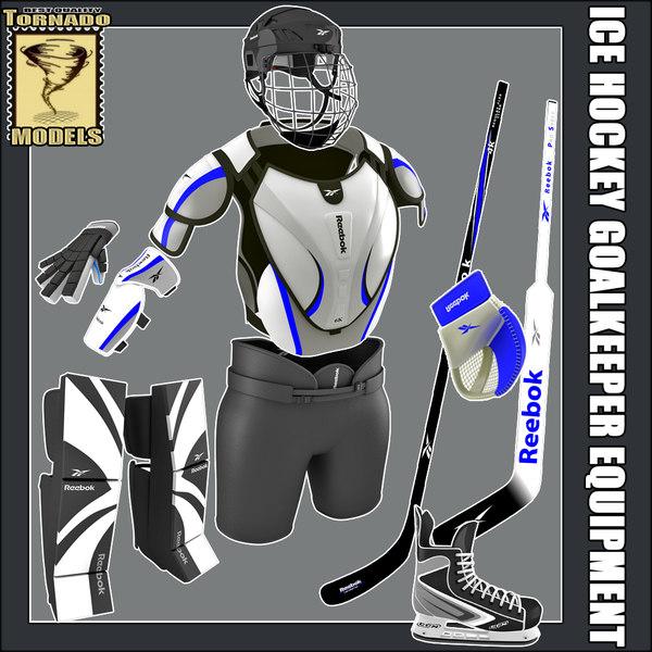 ice hockey equipment - 3d model