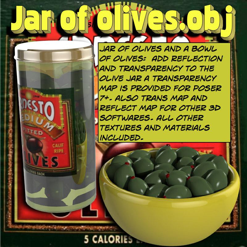 jarofolives olives 3d obj