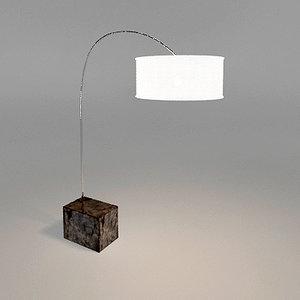 3d arco floor lamp materials