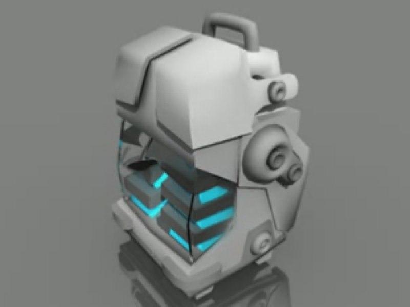 3d futuristic power pack model