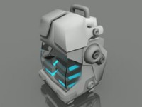 3d futuristic power pack model