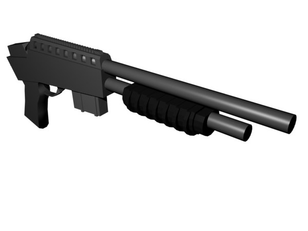 shot gun shotgun 3d model