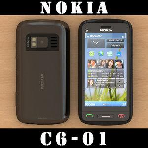 nokia c6-01 3d model