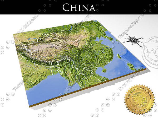 3d model relief china