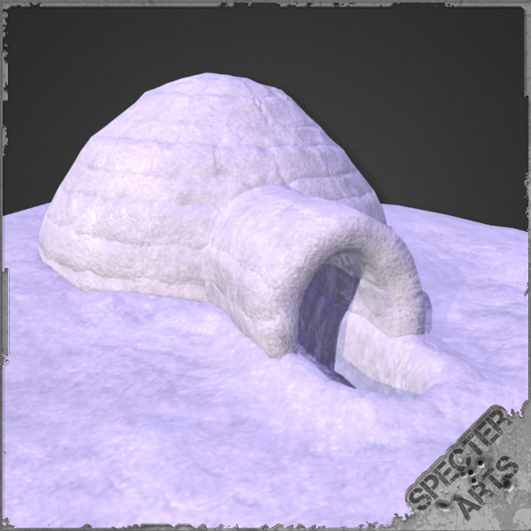 igloo domed structure 3d 3ds