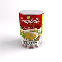 3d model soup 4 levels