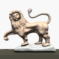 Lion Wall Statue