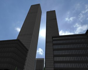 3d model of twin towers world trade