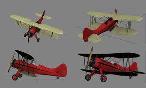3d waco upf-7 biplane