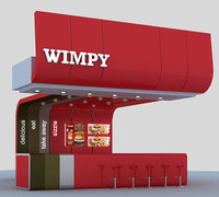3d model of wimpy counter design
