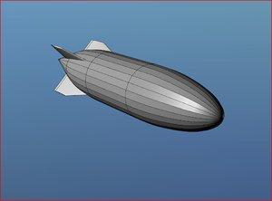 helium blimp 3d model