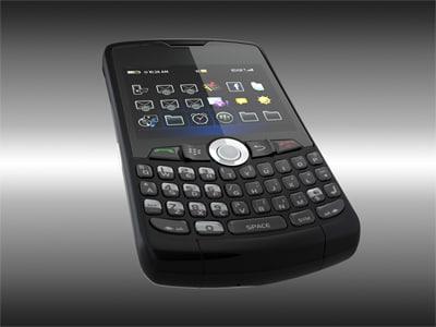 3d blackberry 8330 lighting setup
