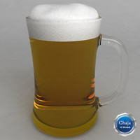 3d model beer glass