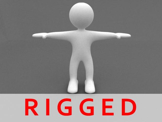maya rigged cartoon bighead