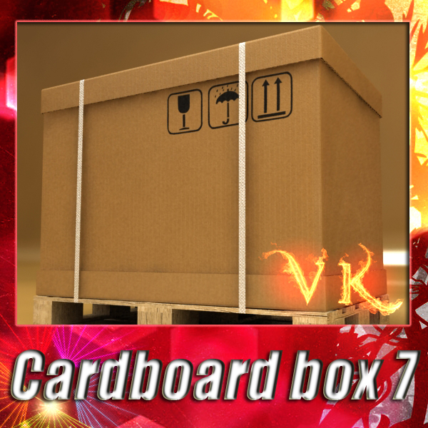 photorealistic cardboard box pallet 3d fbx