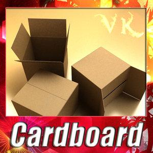photorealistic cardboard box resolution 3ds