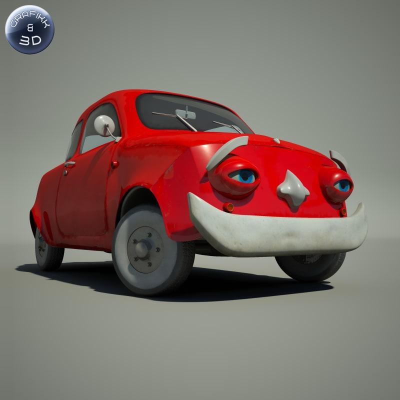 3d fbx cartoon car