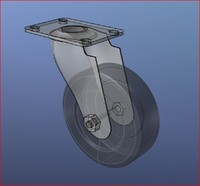 3d model heavy duty swivel caster