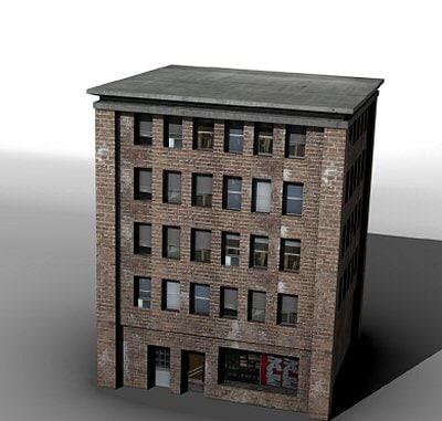 City Building model city building