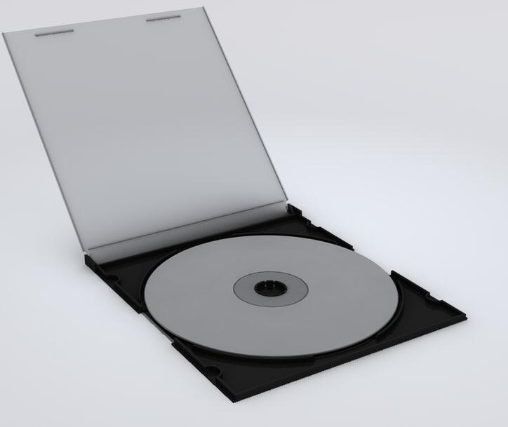 3d model cd jewel case