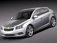 3d model chevrolet cruze 2012 hatchback