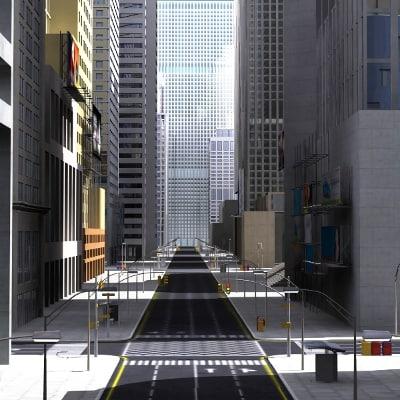 3d definition lighting buildings model