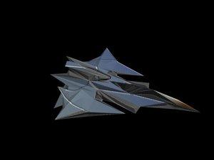 3d interceptor fighter space