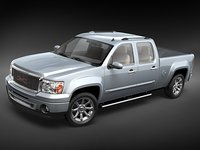 gmc sierra denali pickup 3d model