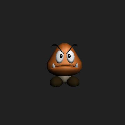 goomba 3d model