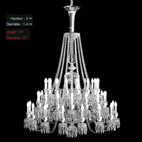 helios baccarat classic crystal chandelier big swarowski glass modern contemporary