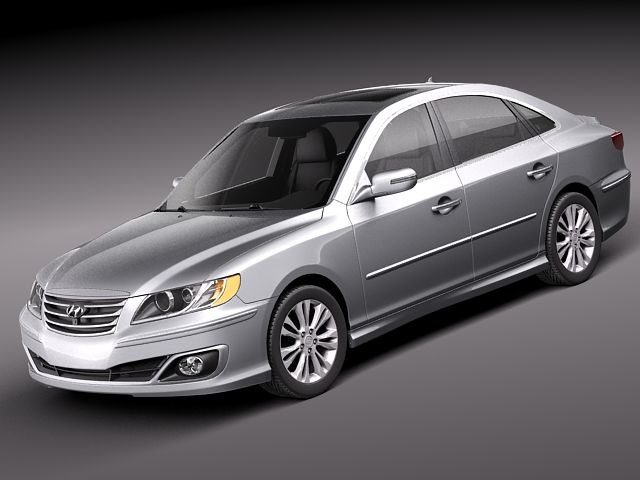hyundai azera sedan car 3d model