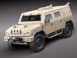 iveco lmv transporter 3d model