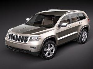 3d model jeep grand cherokee 2010