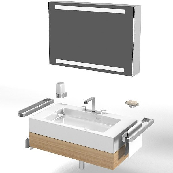 keuco edition 300 30380 bathroom vanity sink lavatory tap modern contemporary mirror set