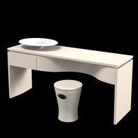 kohler k-2438  vanity luxury bathroom furniture sink pouf seat